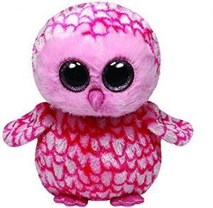 TY Beanie Boos - Pinky - růžová sova   36094 - 15 cm plyšák