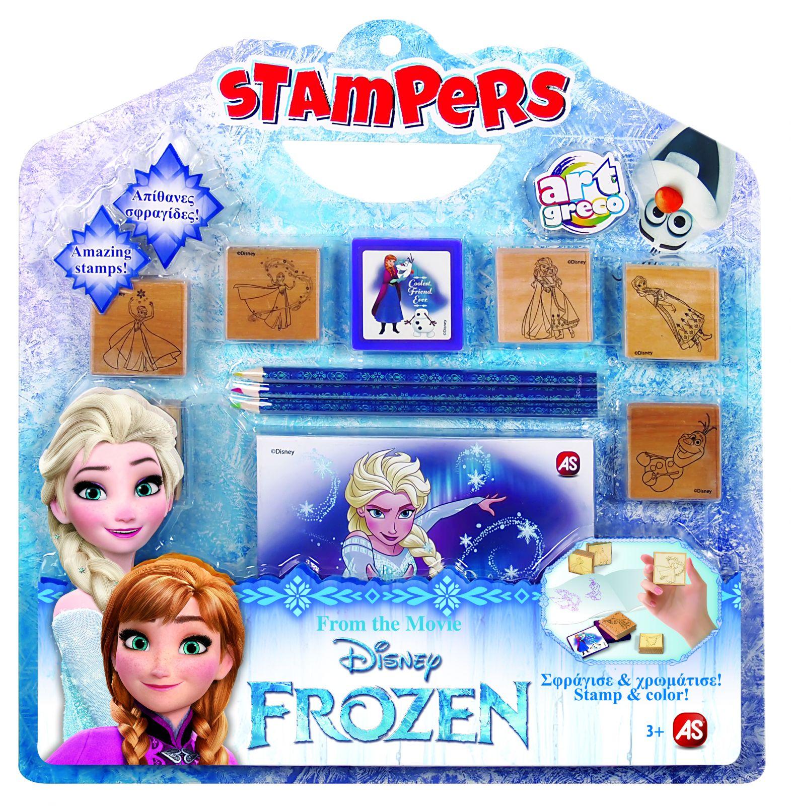 Velká sada razítek 10+1 Frozen - Ledové království AS Company