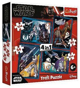 54, 80 a  2 x 104  dílků -  4v1  Star Wars  -  puzzle   Trefl  34326