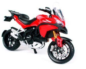 Maisto  motorka bez podstavce  - Ducati Multistrada 1200S  1:18  červená