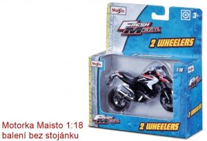Maisto motorka bez podstavce - Ducati Multistrada 1200S 1:18 červená Miasto