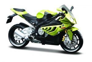 Maisto  motorka na stojánku -  BMW S 1000 RR  1:18 zelená