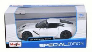 Maisto 1:24 2014 Corvette Stingray 31505 - bílá barva