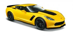 Maisto  1:24  2015 Corvette Z06  31133 - žlutá barva