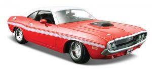 Maisto  1:24  Dodge Challenger 1970  31263 - červená barva