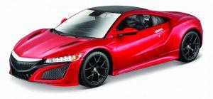 Maisto  1:24 Kit Acura NSX 2018 - model  ke skládání  - vínová  barva