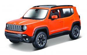 Maisto  1:24 Kit Jeep Renegade - model  ke skládání  - oranžová barva