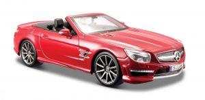 Maisto 1:24  Mercedes Benz SL 63 AMG - červená   barva