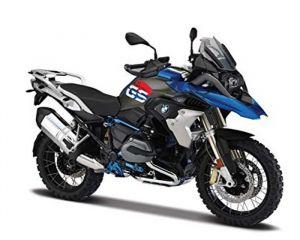 Maisto  motorka bez podstavce  -  BMW R 1200 GS  1:18 modrá