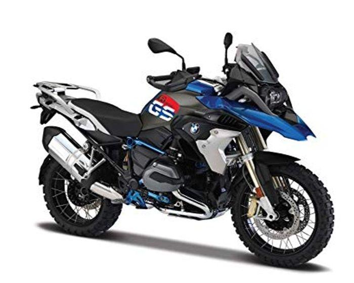 Maisto motorka bez podstavce - BMW R 1200 GS 1:18 modrá Miasto