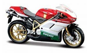 Maisto  motorka bez podstavce  - Ducati 1098S  1:18 červená