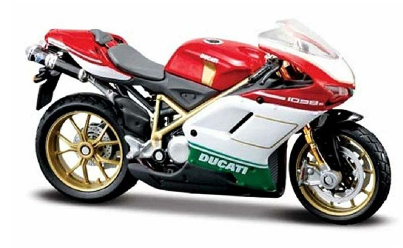 Maisto motorka bez podstavce - Ducati 1098S 1:18 červená Miasto