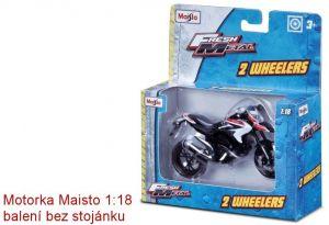 Maisto motorka bez podstavce - Ducati 1199 Superleggera 2014 1:18 oranžovo bílá Miasto