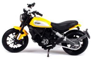 Maisto  motorka bez podstavce  - Ducati Scrambler  1:18  žlutá