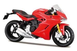 Maisto  motorka bez podstavce  - Ducati Supersport S  1:18 červená