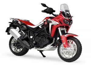 Maisto  motorka bez podstavce  -  Honda CRF 1000L  1:18 červená Africa Win