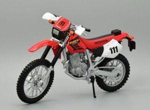 Maisto  motorka bez podstavce  - Honda XR400R  1:18 červená