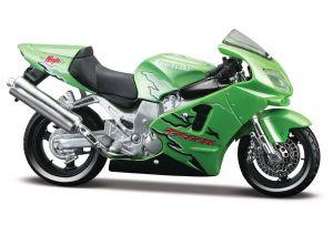 Maisto  motorka bez podstavce  - Kawasaki Ninja ZX-12R   1:18  zelená