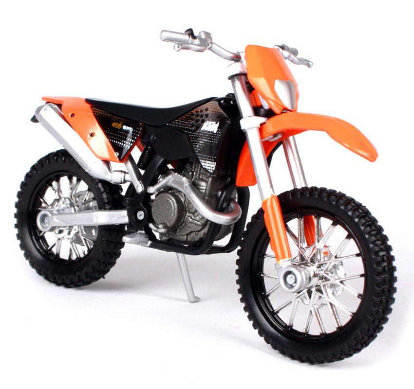 Maisto motorka bez podstavce - KTM 450 EXC 1:18 oranžová Miasto