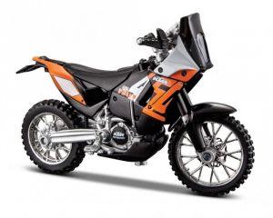 Maisto  motorka bez podstavce  - KTM 450  RALLY  1:18 oranžová