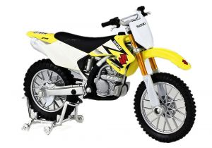 Maisto  motorka bez podstavce  - Suzuki RM-Z250  1:18  žlutá