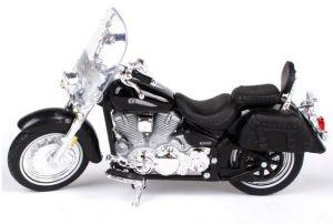 Maisto  motorka bez podstavce  -  Yamaha Road Star Silverado 1:18 černá