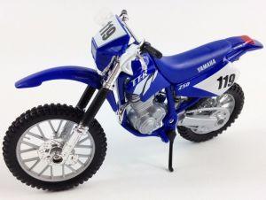 Maisto  motorka bez podstavce  - Yamaha TT-R 250  1:18  modrá