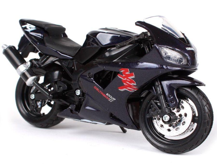 Maisto motorka bez podstavce - Yamaha YZF-R1 1:18 černá Miasto
