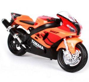 Maisto motorka bez podstavce - Yamaha YZF-R7 2014 1:18 oranžová Miasto