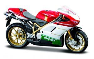 Maisto  motorka na stojánku - Ducati 1098S  1:18  červeno bílá