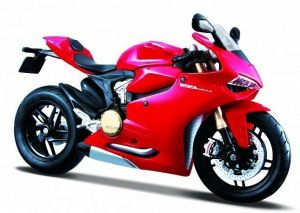 Maisto  motorka na stojánku - Ducati 1199 Panigale 1:18  červená