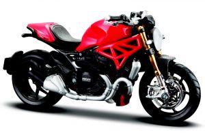 Maisto  motorka na stojánku - Ducati Monster 1200S  1:18  červená