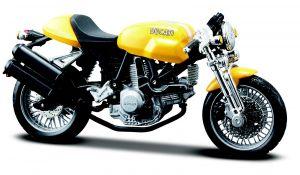 Maisto  motorka na stojánku - Ducati Sport 1000  1:18  žlutá