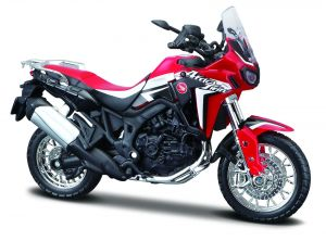 Maisto  motorka na stojánku - Honda Africa Twin DCT  1:18  červená