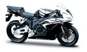 Maisto  motorka na stojánku - Honda CBR 1000RR  1:18  černo bílá