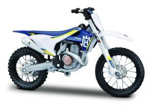 Maisto  motorka na stojánku - Husqvarna FC 450 1:18 modrá