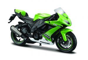 Maisto  motorka na stojánku - Kawasaki  Ninja ZX-10R 1:18  zelená