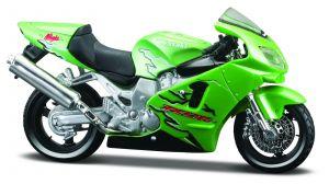 Maisto  motorka na stojánku - Kawasaki  Ninja ZX-12R 1:18  zelená