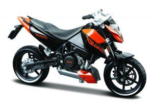 Maisto  motorka na stojánku - KTM 690 Duke 3  1:18 oranžová