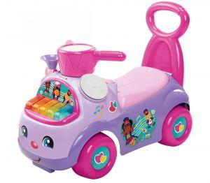Mattel Fisher Price - odrážedlo Little People hudební přehlídka fialová