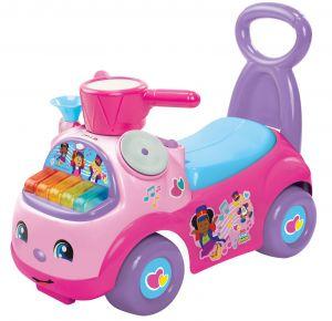 Mattel Fisher Price - odrážedlo Little People hudební přehlídka růžová