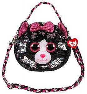 Meteor TY - plyšová kabelka na rameno  s flitry - kočička Kiki  95120