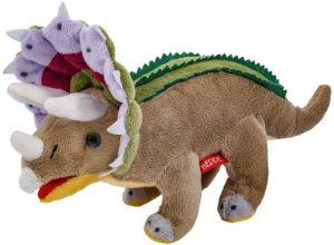 Plyšový dinosaurus - Triceratops hnědý  30 cm  plyšák  12939