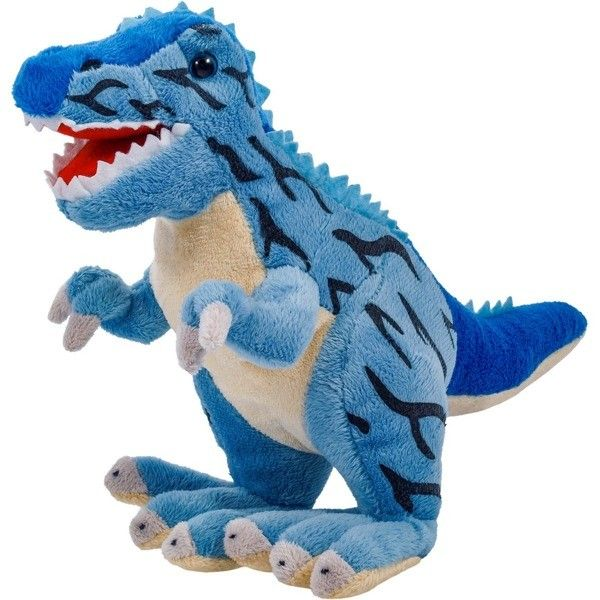 Plyšový dinosaurus - Tyrannosaurus modrý 30 cm velký plyšák 12937 BEPPE