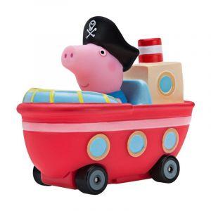 Prasátko Peppa - mini vozidlo  - červená lodička s Tomíkem