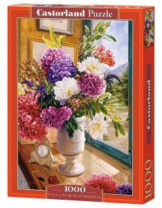 Puzzle Castorland  1000 dílků - Zátiší s hortenziemi   104444