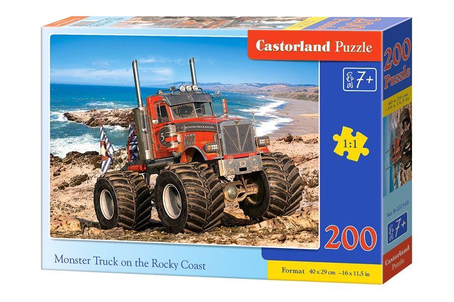 Puzzle Castorland 200 dílků premium - Monster Truck na skalnatém pobřeží 222100
