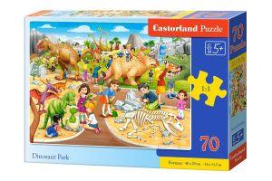 Puzzle Castorland 70 dílků premium  - Dinosauří park  070046
