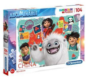 Puzzle Clementoni  - 104 dílků  - Abominable - sněžný kluk 27125