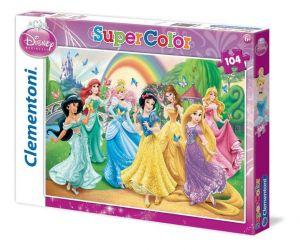 Puzzle Clementoni  - 104 dílků  - Princezny 27086